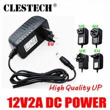 Upgrade Quality AC 12V2A 100V-240V Converter Adapter DC 2000mA LED Power Supply EU US Plug 5.5mm x 2.1-2.5mm for camera product
