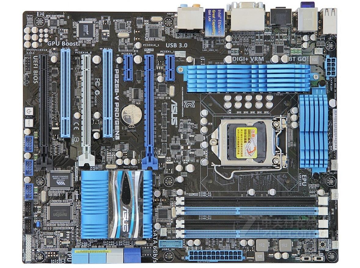 Asus P8Z68-V PRO/GEN3 motherboard PCI-E3.0/SATA3/USB3.0 support E3-1230 I7-3770K  used 90%newAsus P8Z68-V PRO/GEN3 motherboard PCI-E3.0/SATA3/USB3.0 support E3-1230 I7-3770K  used 90%new