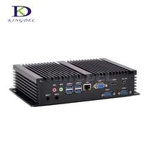 Хит продаж мини настольный компьютер Core i5 4200U/i7 5550U двухъядерный Окна 10 Мини-ПК LAN HDMI 2 * COM RS232 USB 3.0 NC320