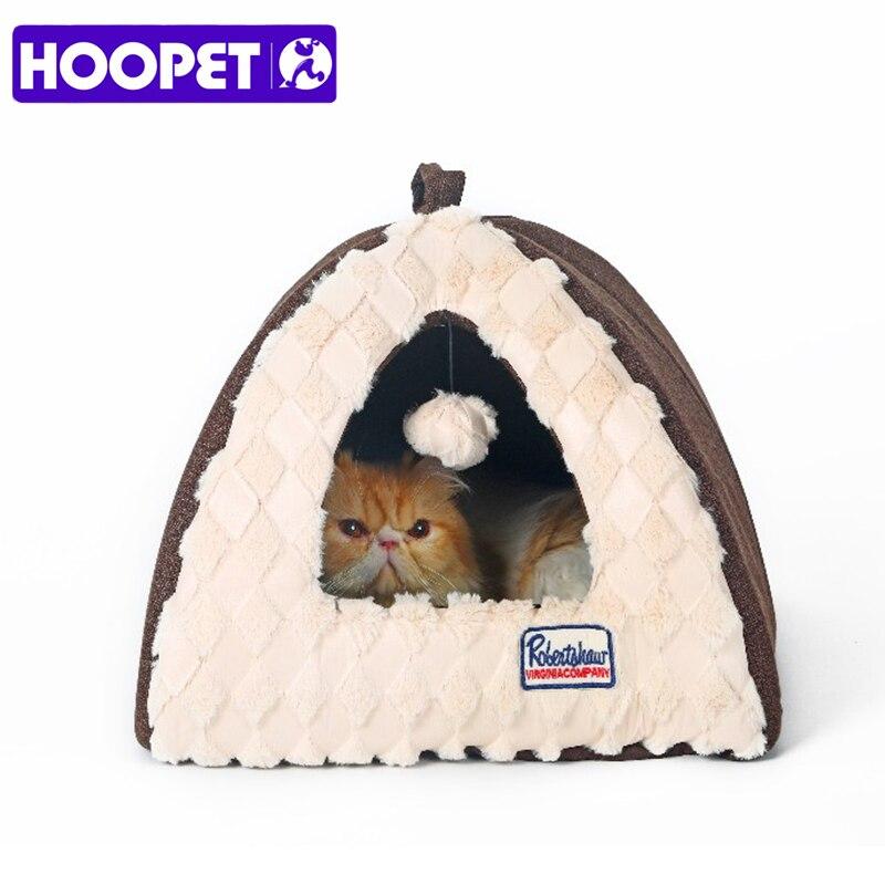 HOOPET Összehajtható és mosható meleg PV Velvet macska vár kutya macska kölyök ház Litte kutyák sátor alakú ház