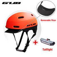 GUB nouveau Casque de vélo de route de ville avec feux arrière sécurité Vtt visière amovible casques de vélo Casque de loisirs urbains Casque BMX Casque Vtt
