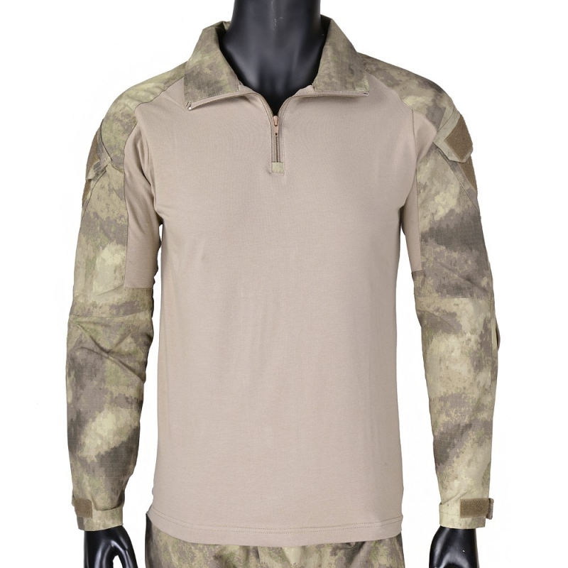 Amicable Cqc Military Army Airsoft Tactical Shirt Gen2 Men Hunting Paintball Bdu Combat Shirt With Elbow Pads Long Sleeve A-tacs Camo Sports & Entertainment Shooting