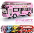 1:32 free shipping London Bus Alloy Diecast Car Model Pull Back Toy Car model Electronic Car with light&sound Kids Toys Gift