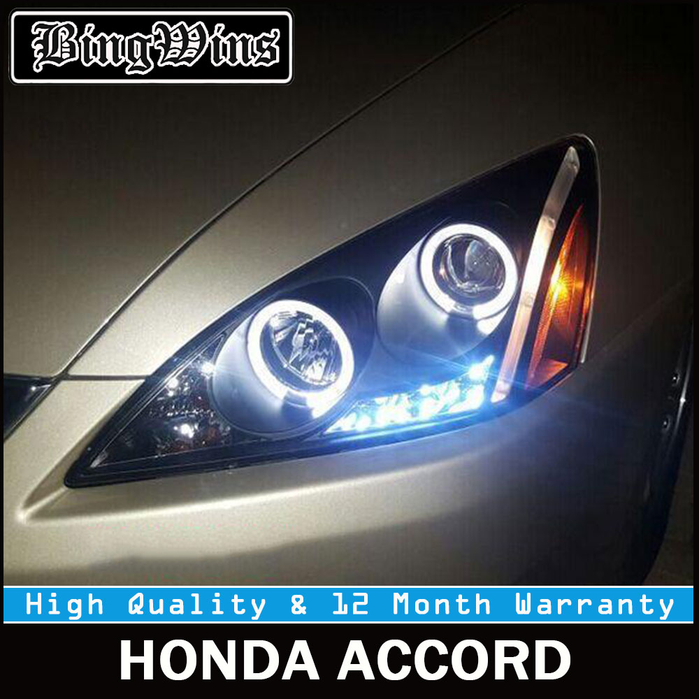 Front For Honda Accord Headlights 2003 2007 Accord LED Headlight DRL Bi  Xenon Lens High Low Beam Parking HID Fog Lamp Head Lamp In Car Light  Assembly From ...