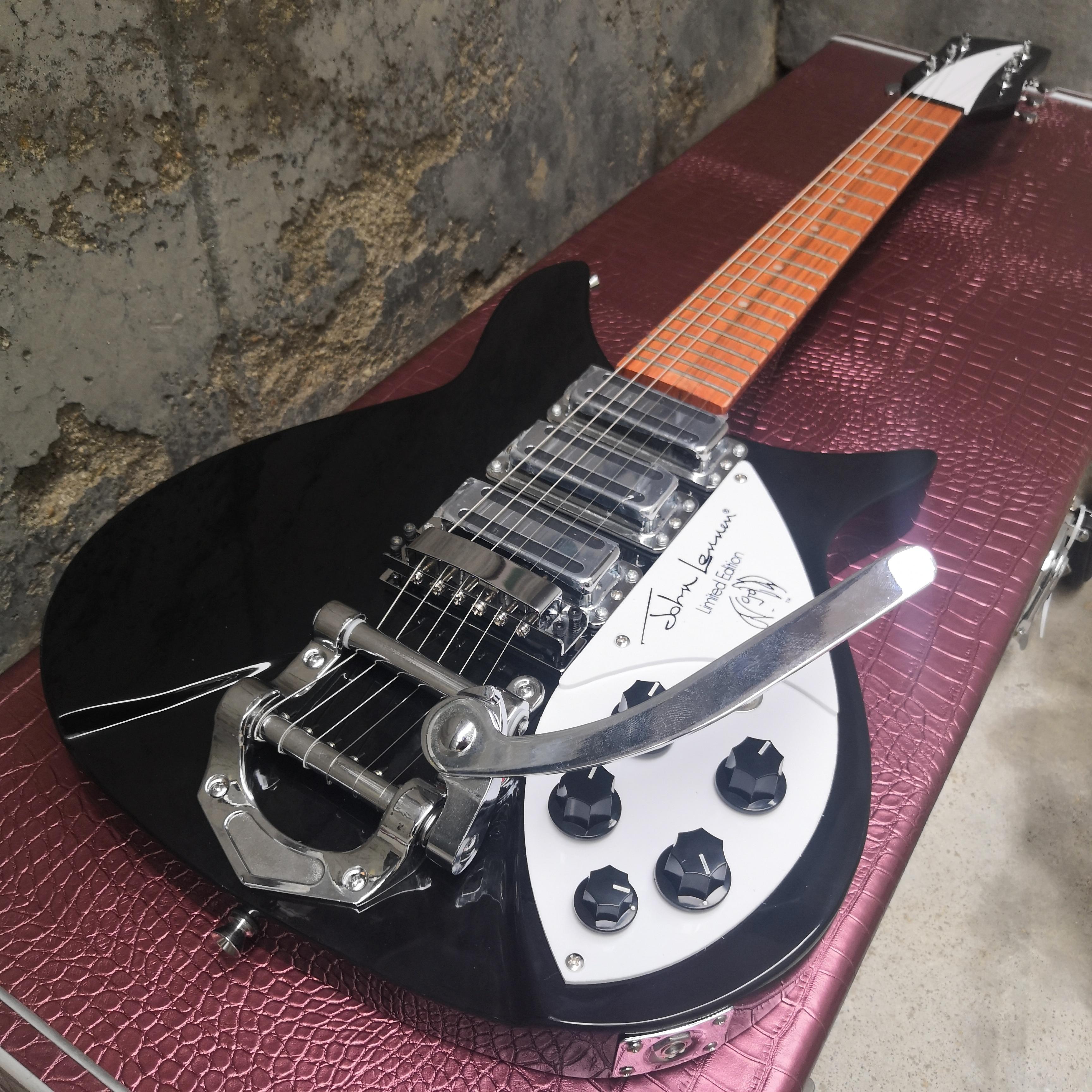 ¡La guitarra eléctrica Rick 325 es brillante con cuello corto distancia 527mm envío gratis!