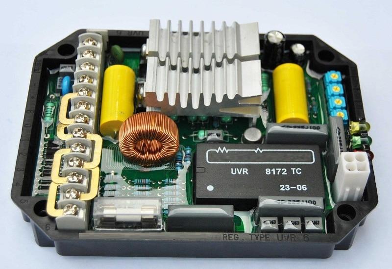 AVR UVR6 Automatic Voltage Regulator China Powerly Generator Stabilizer Alternator Single Three Phase Adjuster