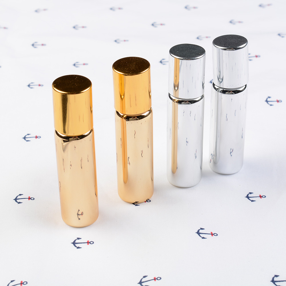 TOPHOT 5ML Metal Roller Glass Perfume Bottles Refillable Bottle Essential Oils Roll-on 10 ml glass roll on bottles for sale fimo clay perfume bottles tassels glass perfume bottle wholesale