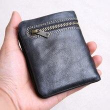 Телячья кожа мужской кошелек из мягкой кожи мужские кошелек черные дизайнерские кошельки для мужчин бумажник для кредитных карт доллар цена для монет Чехол