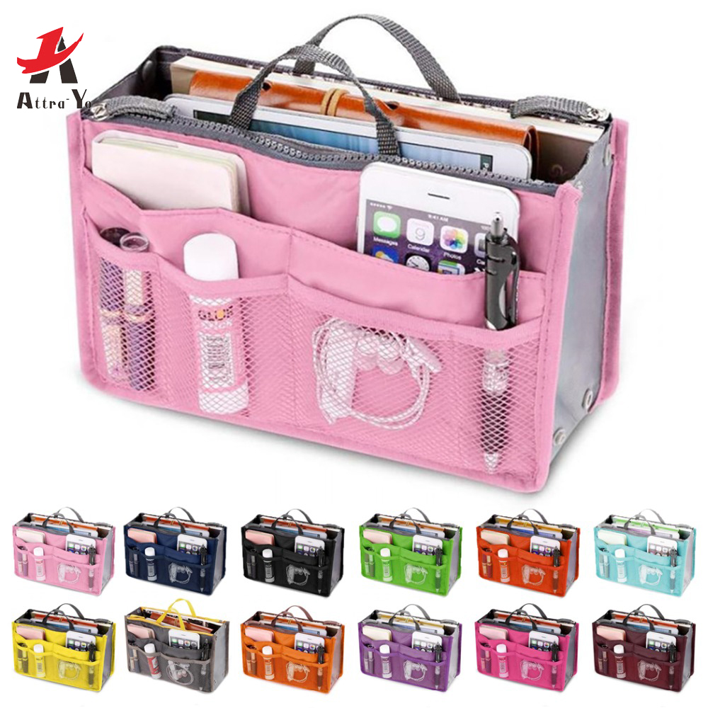 ATTRA-YO Multifunction Cosmetic Bag Women Makeup Bag Travel Toiletry Necessaire Cosmetics Organizer Storage Case HolderLM2136ay2(China)