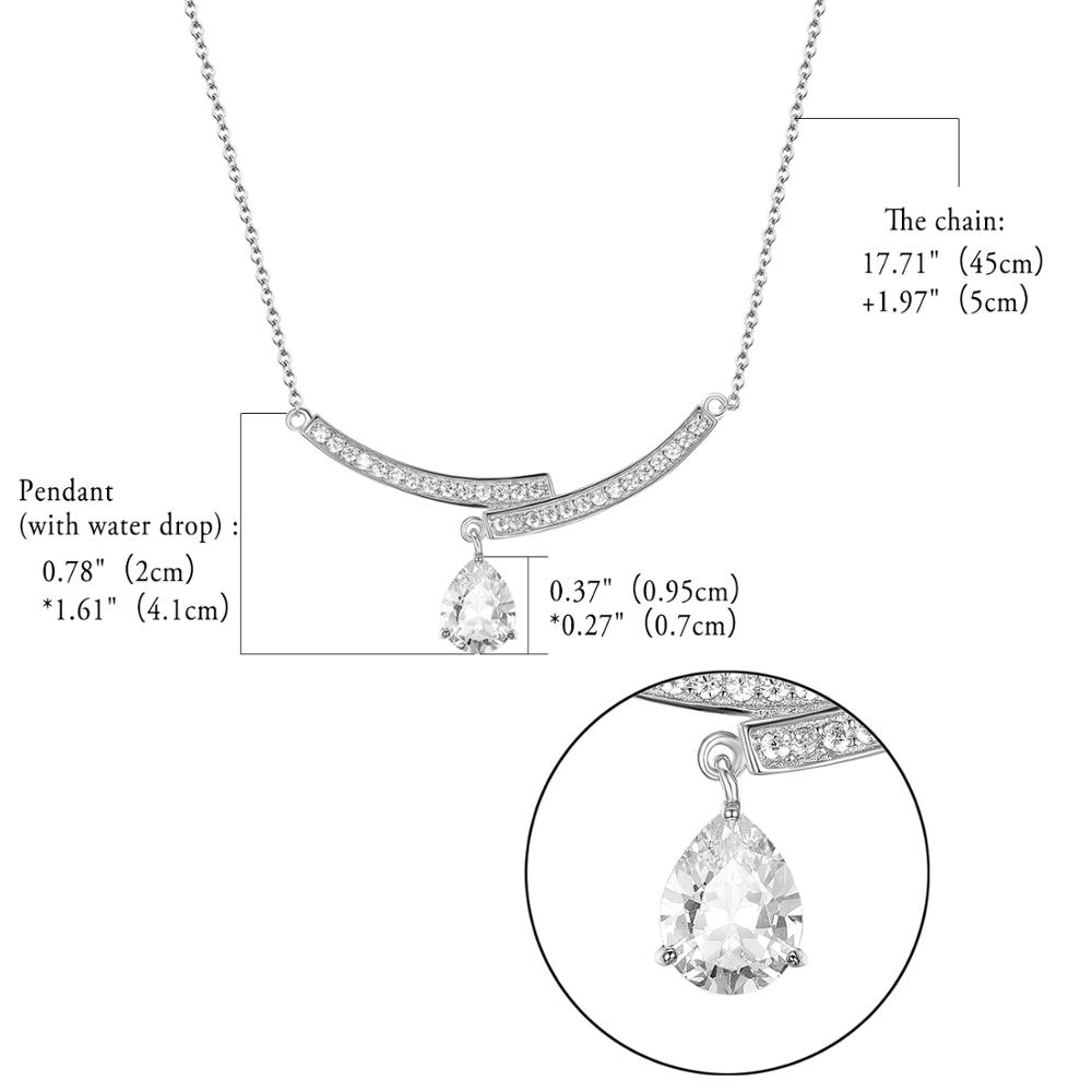 925 Sterling Silver water drop Necklace