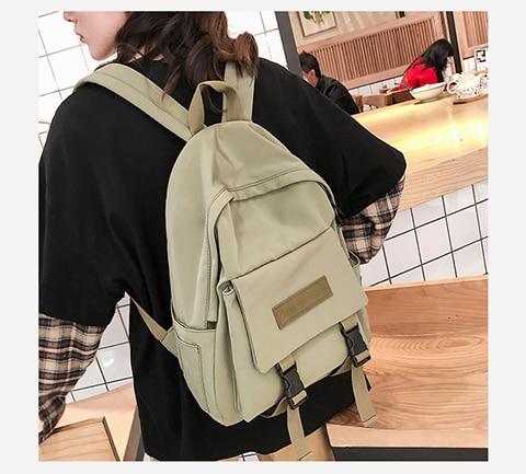 HTB1DmmUXy 1gK0jSZFqq6ApaXXaX 2019 Backpack Women Backpack Fashion Women Shoulder Bag solid color School Bag For Teenage Girl Children Backpacks Travel Bag