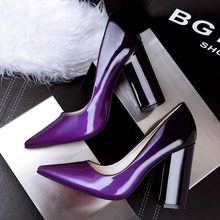 Women Shoes New 2016 Summer Shoes Poinets Toe Women Pumps Gradient Patent Leather High-heeled  Women's Shoes 4Colour Size 35-39
