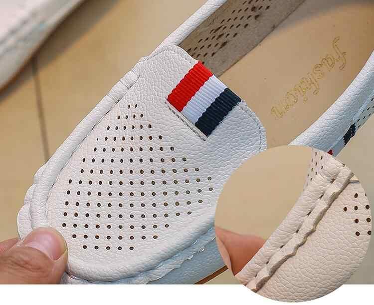 Ilkbahar Sonbahar Bebek Yürümeye Başlayan Çocuk Ayakkabıları Çocuklar PU Deri Yumuşak Nefes Ayakkabı Erkek Loafer'lar #8E270136
