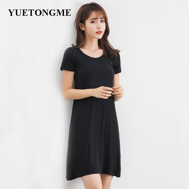 4d560886b280 YUETONGME 2018 Sexy Dress Women Summer Dresses Fashion short Sleeve dress  solid color Midi Dress BTL168-7