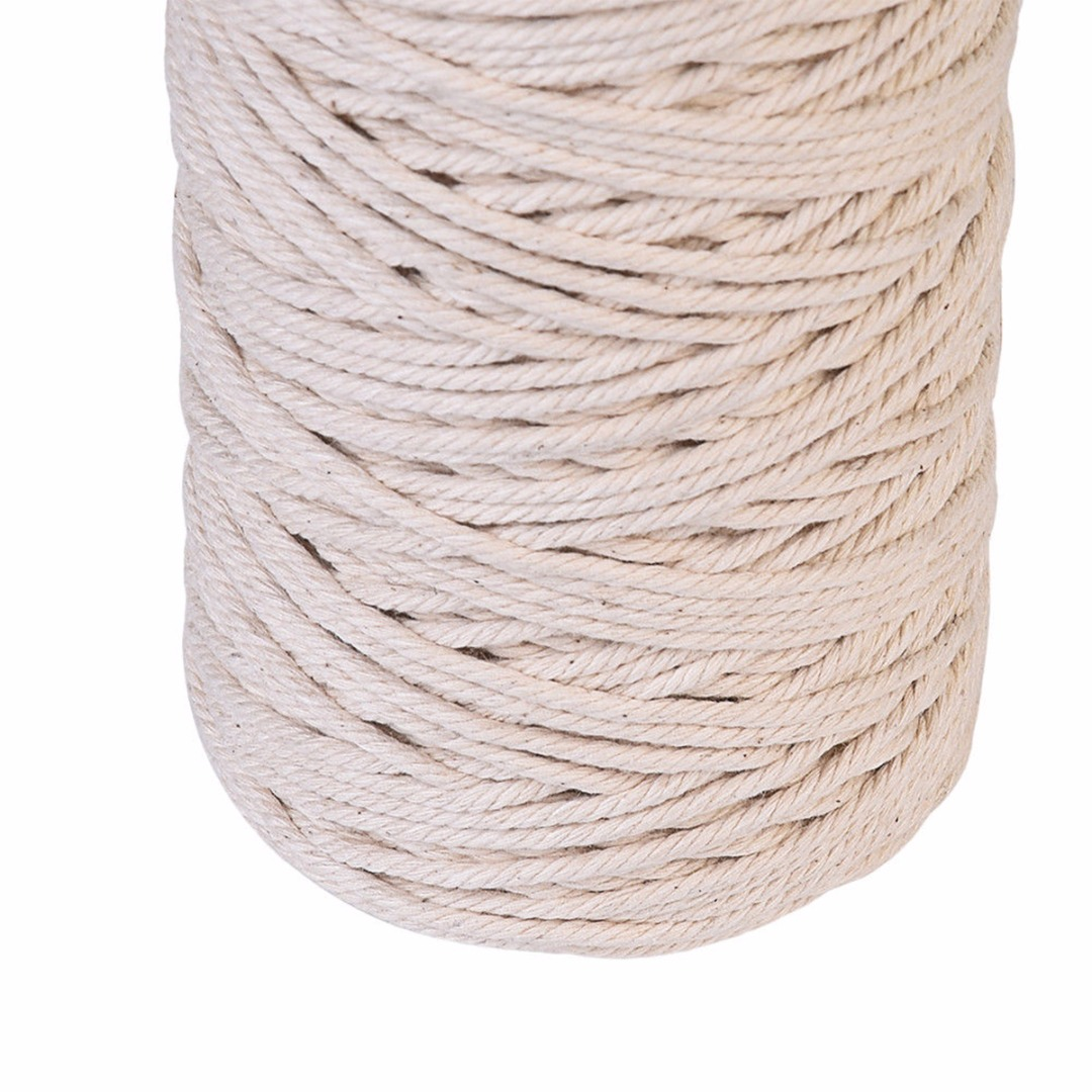 1//2//3mm Cotton Twisted Cord Rope DIY Craft Macrame Artisan String Popular Set