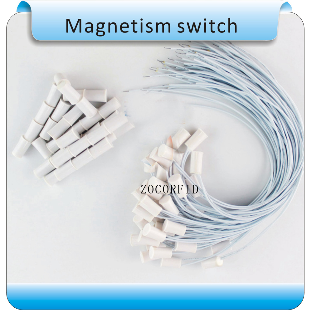 Free Shipping 10pcs Circular NO Wire Door Magnetic Sensor Switch Access Control Magnetic Sensor(white )