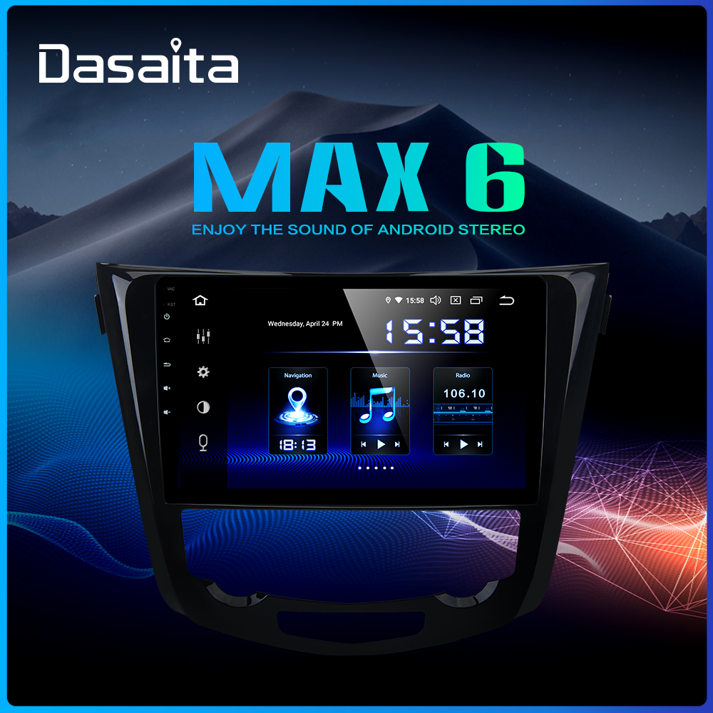 Dasaita Car Multimedia Android 9.0 For Nissan X-Trail Qashqai J11 J10 Radio 2014 2015 2016 2017 2018 2019 GPS 10.2