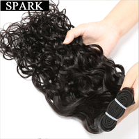 SPARK Indian Virgin Hair Water Wave 1Piece/Lot 100% Unprocessed Human Hair Extensions 8 32 inches Hair Weave Bundles