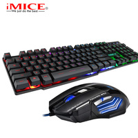 Colorful LED Fashion Backlit Keyboard and x7 Mouse Set Gaming Keyboard Mouse Gamer Mouse and Keyboard Kit Home Office PC Laptop