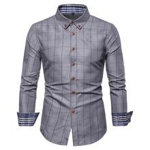 Plaid shirts Men 2019 New Fashion Cotton Long Sleeved Summer