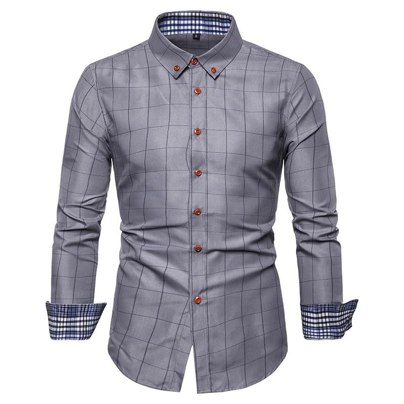 Plaid Shirts Men 2019 New Fashion  Cotton Long Sleeved Summer Casual Men Shirt Camisa Masculina Mens Dress Shirts