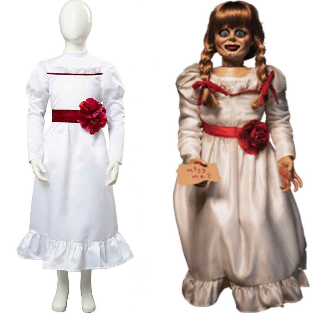 selezione più recente acquista autentico codici promozionali Film Annabelle Cosplay Costume Horror Doll Outfit for Kids Child Costume  Halloween Carnival Fancy Dress