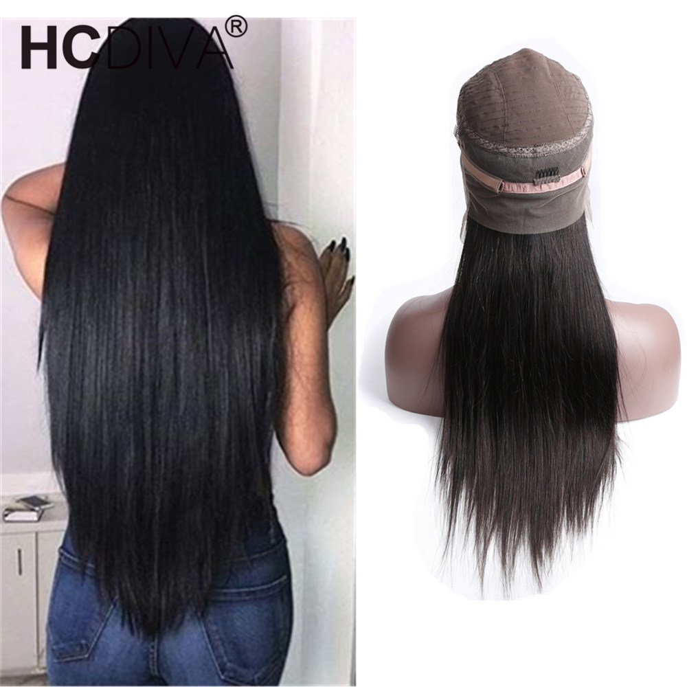 Honest 360 Lace Frontal Wig Pre Plucked With Baby Hair Straight Lace Front Wig Human Hair Wigs For Black Women Remy Hair Hcdiva Do You Want To Buy Some Chinese Native Produce? Human Hair Lace Wigs
