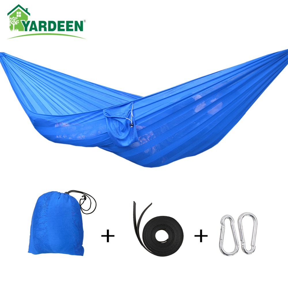 1-2 Person Outdoor Super Soft Widened Mesh Hammock Beach Double Ice Silk Breathable Hammock For Travelling,Hiking,Camping