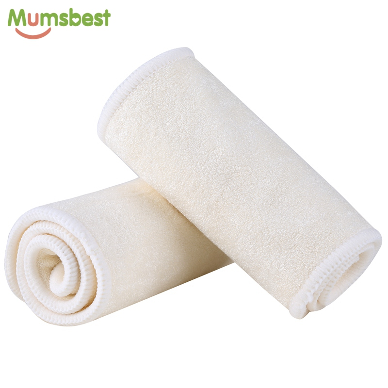 [Mumsbest] 4 Layers Bamboo Insert Reusable Washable High Quality Inserts Boosters Liners For Baby Cloth Diapers Nappy 1 Pcs