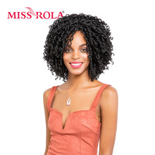Miss Rola 1B# Soft Dread Lock Synthetic Hair Extensions 15 Roots Kanekalon Low Temperature Fiber Curly Crochet Braids 13.5 Inch(China)