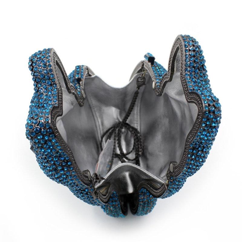 Embrayages Portemonnaie Soirée À Bleu 9 7 Animale Sacs Dîner 3 Forme De 6 4 5 Fête Femmes Marque Minaudière Xiyuan Bandoulière 1 2 Luxe Évider Mesdames 8 qEtPw