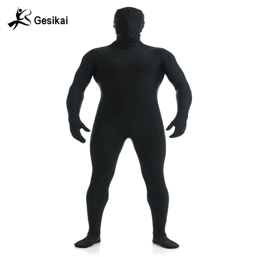 02a3f771a35 Free Shipping Adult Full Bodysuit Mens Spandex Lycra Zentai Suit Second  Skin Tights Suit Mens Halloween