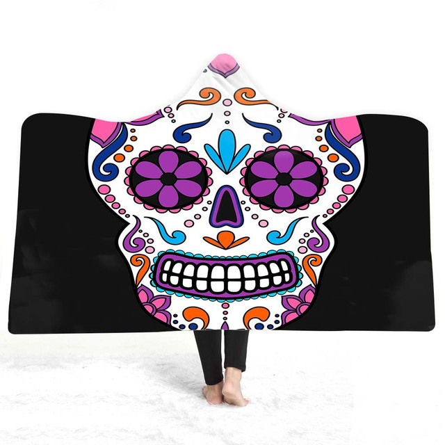 3D SKULL THEMED HOODED BLANKET (21 VARIAN)