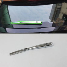 OUBOLUN  exterior car accessories Car body kits ABS chrome rear wiper cover For Peugeot 4008 2016 abs car accessories car body kits exterior rear bumper foot plate 1pcs for 2018 mercedes benz vito