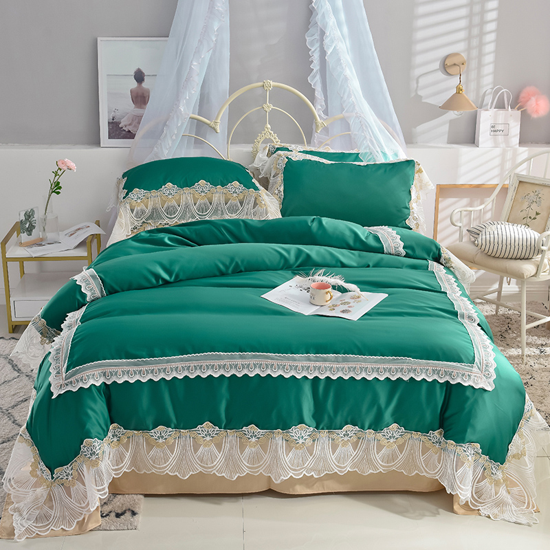 Super soft washed silk Bedding Set Duvet Cover Sheet/fitted sheet Pillowcase King Queen Size lace Bed LinenSuper soft washed silk Bedding Set Duvet Cover Sheet/fitted sheet Pillowcase King Queen Size lace Bed Linen