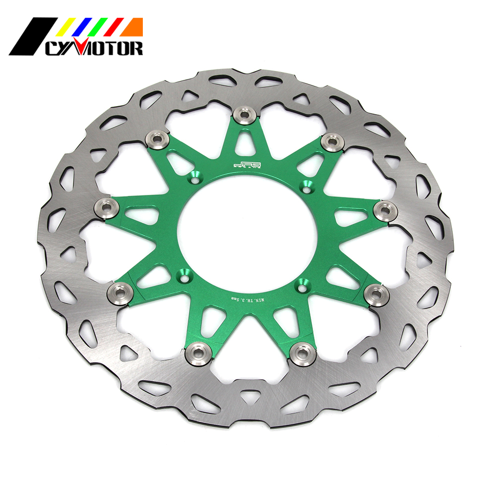 320MM Floating Brake Discs Rotor For KAWASAKI KX125 KX250 KX250F KLX450R KX450F KX KXF KLX 125 250 450 R 06 07 08 09 10 11 12-15 купить в Москве 2019