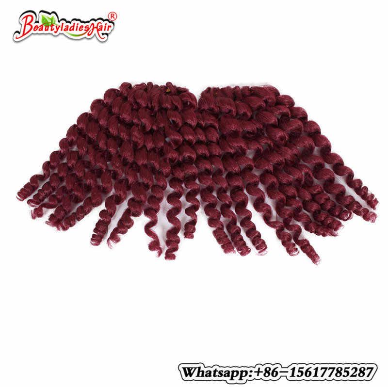 Alizing короткие Ombre палочка кудри твист кос крючком волос 3 пакетов/лот отказов 8 дюймов Kanekalon африканских волос плетение