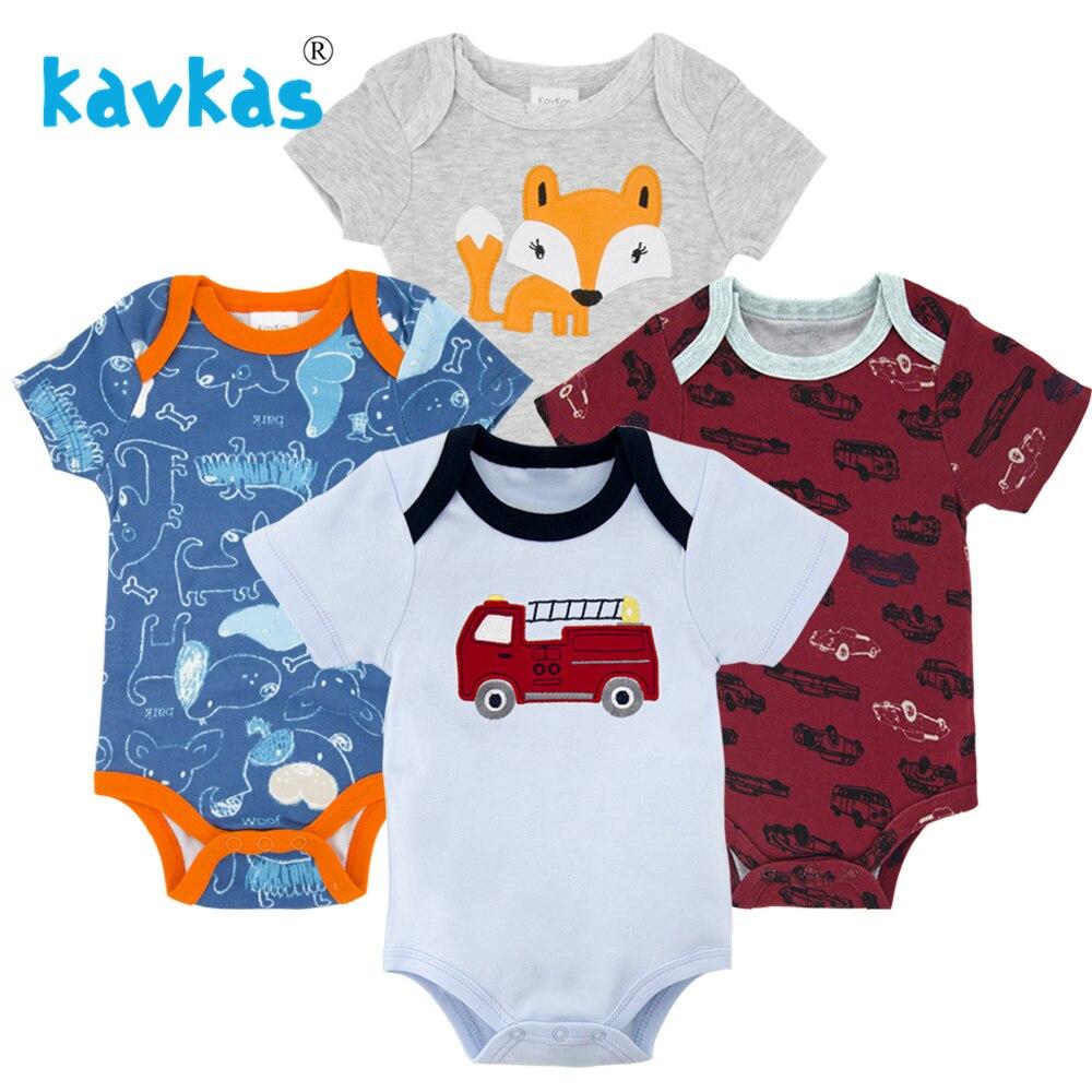 Kavkas/Пижама для младенцев 4 шт./компл. короткий рукав новорожденных Пижама для маленьких мальчиков/младенцев Одежда для маленьких мальчиков bossa nova - Цвет: HY21652174
