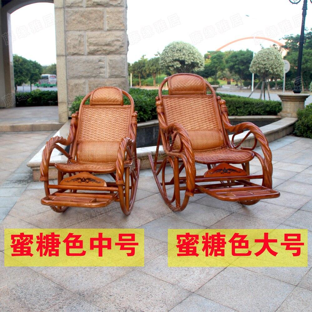 Sedie A Dondolo Per Terrazzo a buon mercato rattan sedia a dondolo reclinabile anziani
