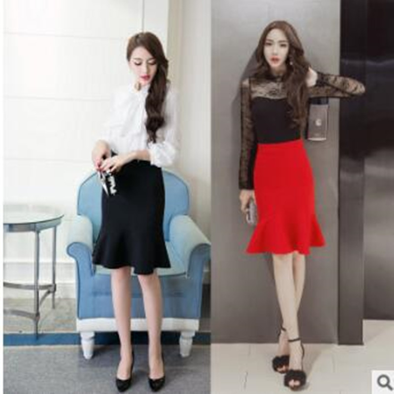 Tutu Top Fashion New None Saia Coyote Valley 2017 Pencil Skirt Business Women Wear Hem Mermaid Style Plus Size Office Ladys Up