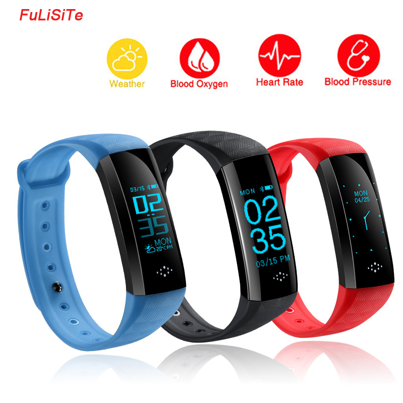 HR M2S Best Fitness Bracelet Pulsometer Blood Pressure Tracker Heart Rate Monitor Smart Band Waterproof Vibrating