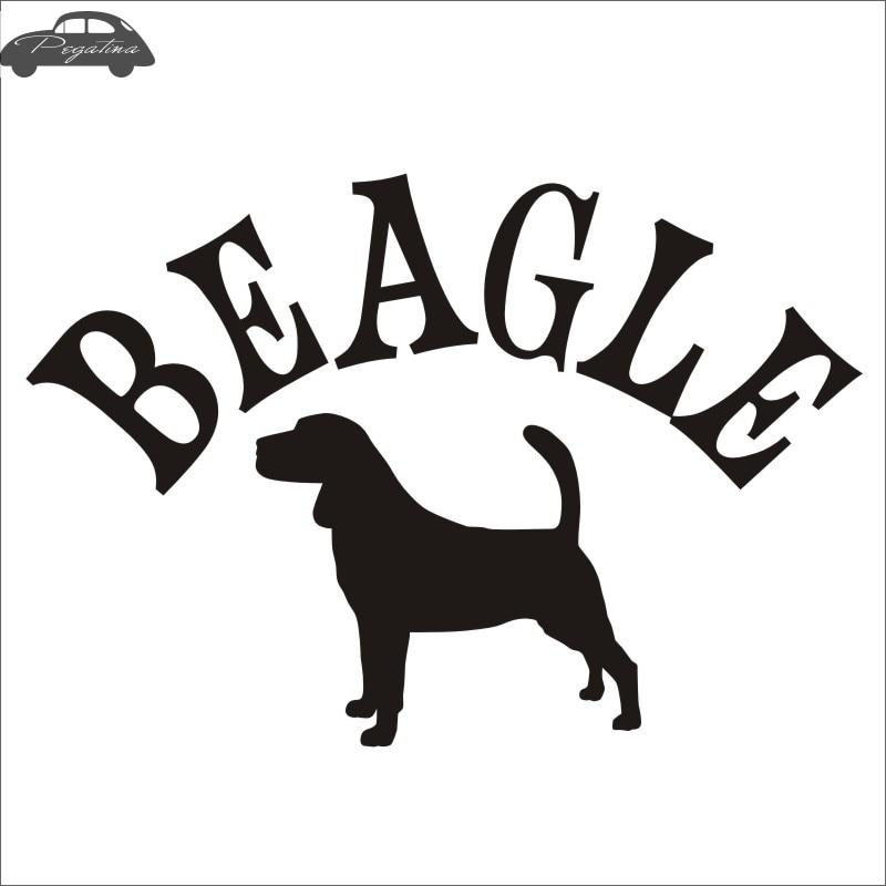 Car BEAGLE Car Pet Shop Sticker Beagle Dog Decal Vinyl Wall Art Decals Pegatina Quadro Parede Decor Mural Pet Shop Sticker