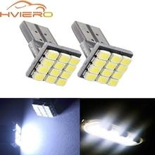 2X T10 W5W 12SMD 1206 Car Wedge White LED DC 12V Canbus No Error Decoder Car External Lights License Plate Corner Backup Lamp