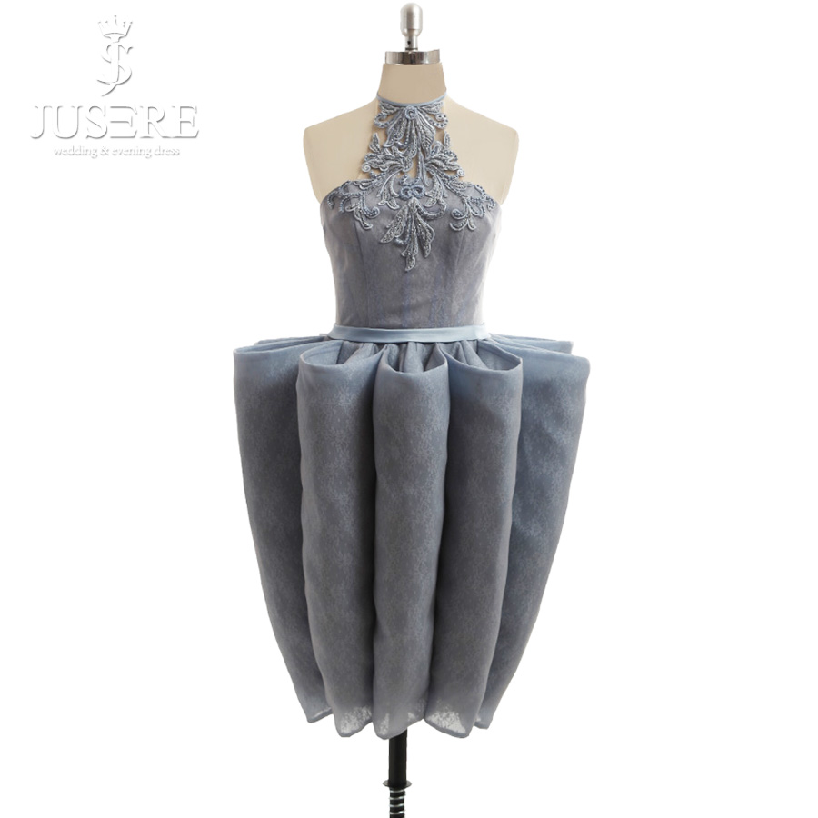 b7d87f7543 Real Photos Beading Embroidery Lace Halter Off Shoulder Unique Design Short  Party Dresses Curve Grey ...