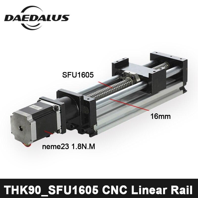 CNC Linéaire Rail de Guidage SFU1605 Linéaire Rails Linéaire Actionneur Système Module Table Voyage Longueur CNC Guide Vis À Billes Coulissant + 57 moteur