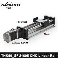 CNC линейные направительные рельсы SFU1605 линейные рельсы Линейный система привода модульный стол путешествия Длина линейная направляющая ша
