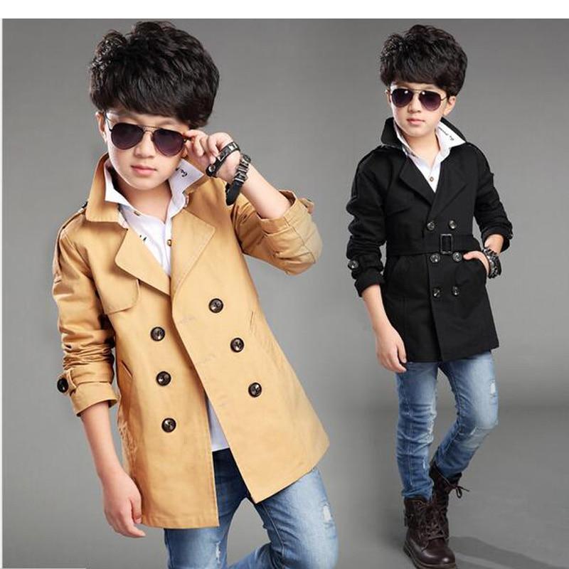 70402d96d Boy Trench Coat New 2017 Boys Outerwear Kids Windbreaker Cool ...