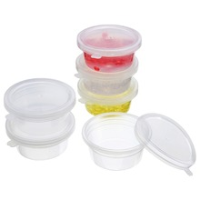 цена на 6/12Pcs Slime Storage Clear Containers Plastic Storage Box With Lids For All Your Glue Putty Foam Ball Mayitr