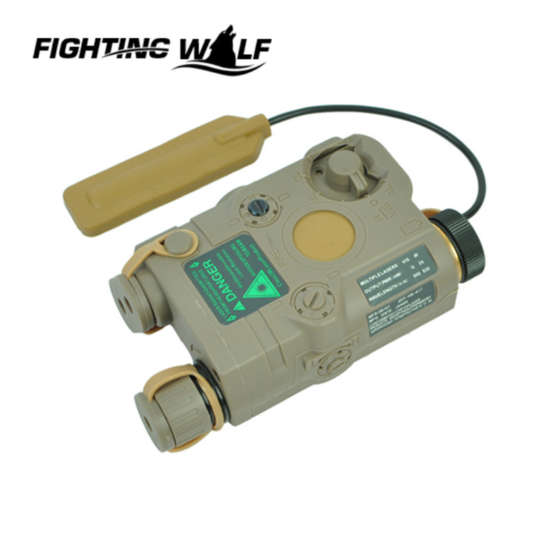 ФОТО Airsoft Tactical AN/PEQ-15 Green Dot Laser with White LED Flashlight Torch IR illuminator For Hunting Outdoor Black/Tan