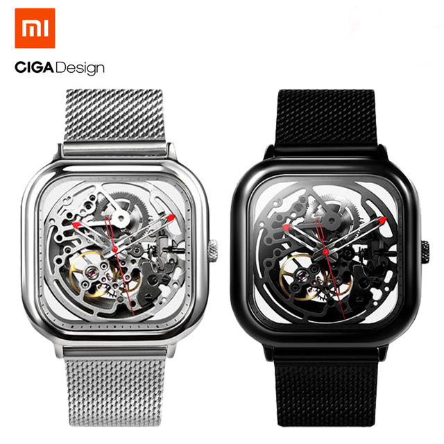 Xiaomi CIGA Design Hollowed-out Mechanical Watch Reddot Winner Stainless Luxury Fashion Watches miracle moment fashion stylelish mens womens unique hollowed out triangular dial black fashion watch ag3